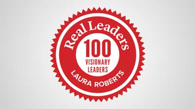 "Phoenix based Pantheon Enterprises' CEO Laura Roberts named one of ""100 Visionary Leaders: Leading Us to a  Better World"" by Real Leaders Magazine"